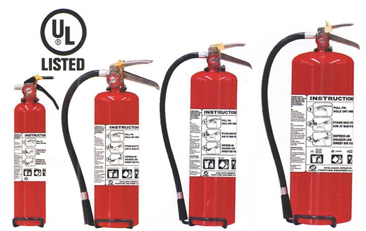 Alat Pemadam Api Ringan ABC yang Terdaftar UL299 untuk Pasar Amerika Utara