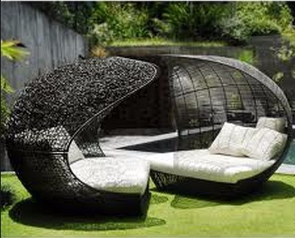 China Single Outdoor Garden Patio Furniture Sun Loungers Daybed