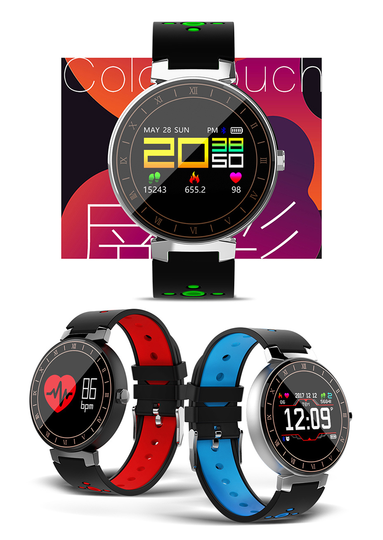 L8 Blood Oxygen Pressure Heart Waterproof Smart Bracelet Fitness Tracker Bluetooth Smartwatch