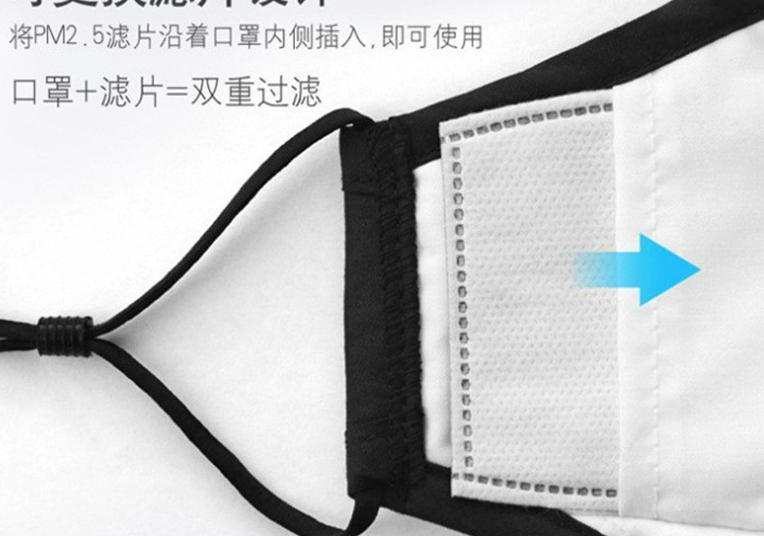 in Stock with Fast Delivery Pm2.5 Cotton Breathing Valve Masks Dustproof Anti Fog Pluggable Filter