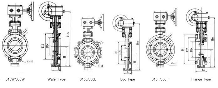 150lb/300lb API Flanged End High Performance Butterfly Valve (GAD343H)