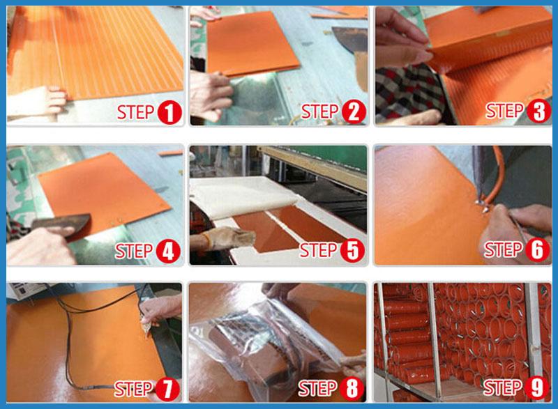 12V Silicone Rubber Heater