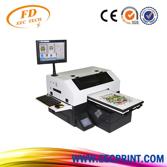b86df8d9f Cheapest Small Multifunction A3 Size DTG Printer Tp-300 Flatbed T-Shirt  Printing Machine