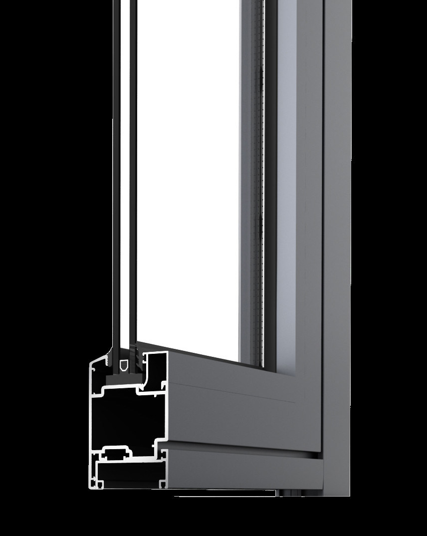 China Aluminium Glass Casement Window On Bronze Anodized