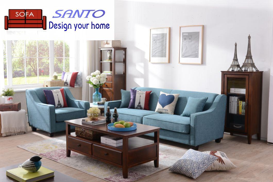 China European Style Fabric Sofa Real