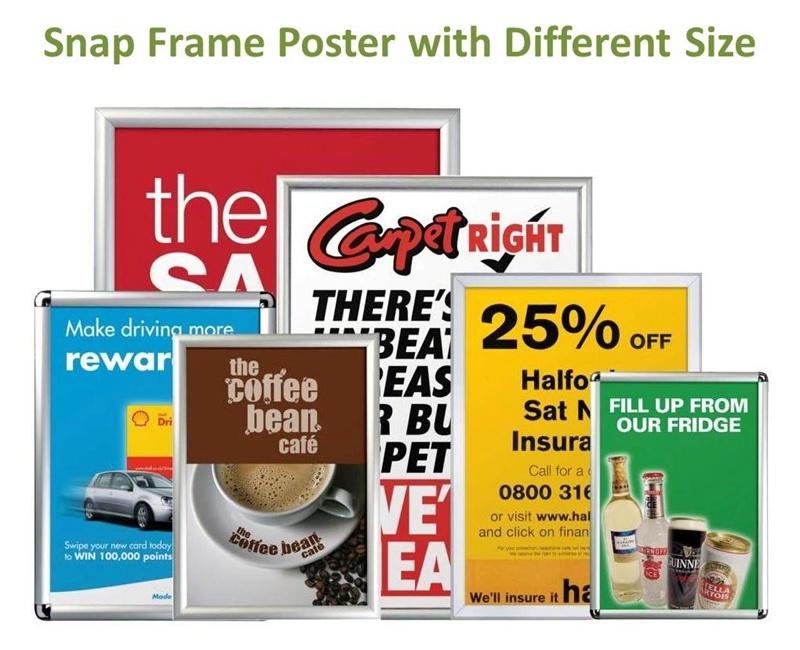 Aluminum Snap Poster f<em></em>rame with Round Corner