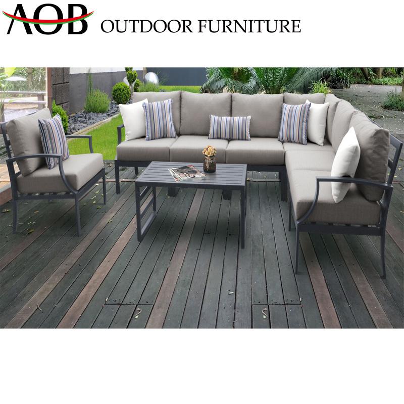 Aluminum Corner Outdoor Furniture Hotal Villa Balcony Patio Sofa Sets