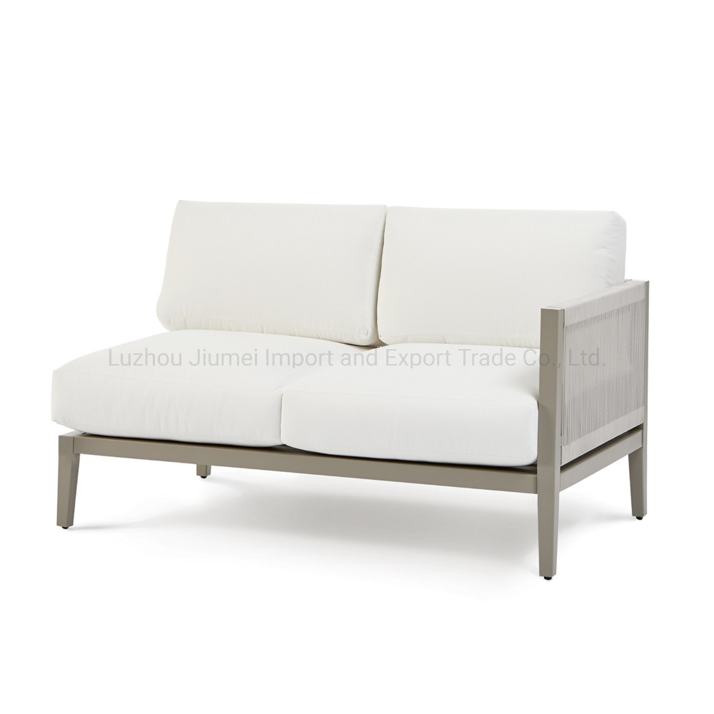 Strange China Outdoor Aluminum Furniture Knock Down Rope Weaving Aluminum One Arm Loveseat Pabps2019 Chair Design Images Pabps2019Com