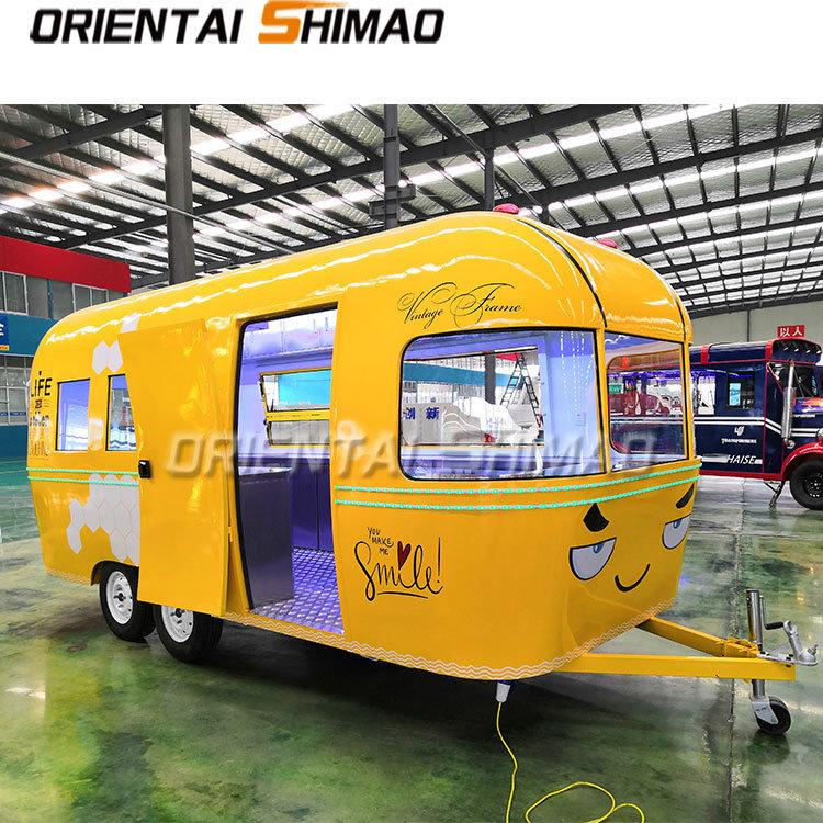 china hot sale street hot dog mobile airstream caravan