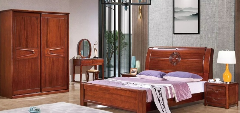 Wooden Bed Set Rosewood Beds