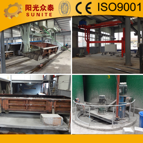 China Aerated Autoclaved Concrete AAC Block Making