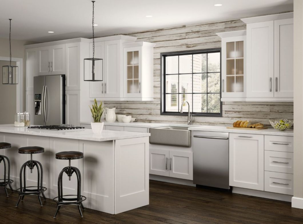 China American Solid Wood Kitchen Cabinet Factory ...