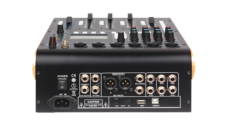 china audio mixer with 12 channels input 6 mic 9x100mm motorized faders touchscreen ipad. Black Bedroom Furniture Sets. Home Design Ideas