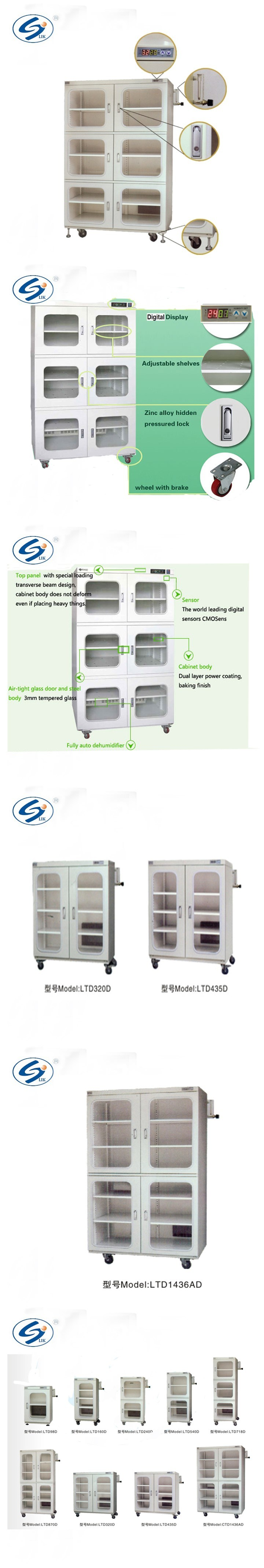 Electronic Nitrogen Storage Drying Cabinet for IC, PCB, Batteries