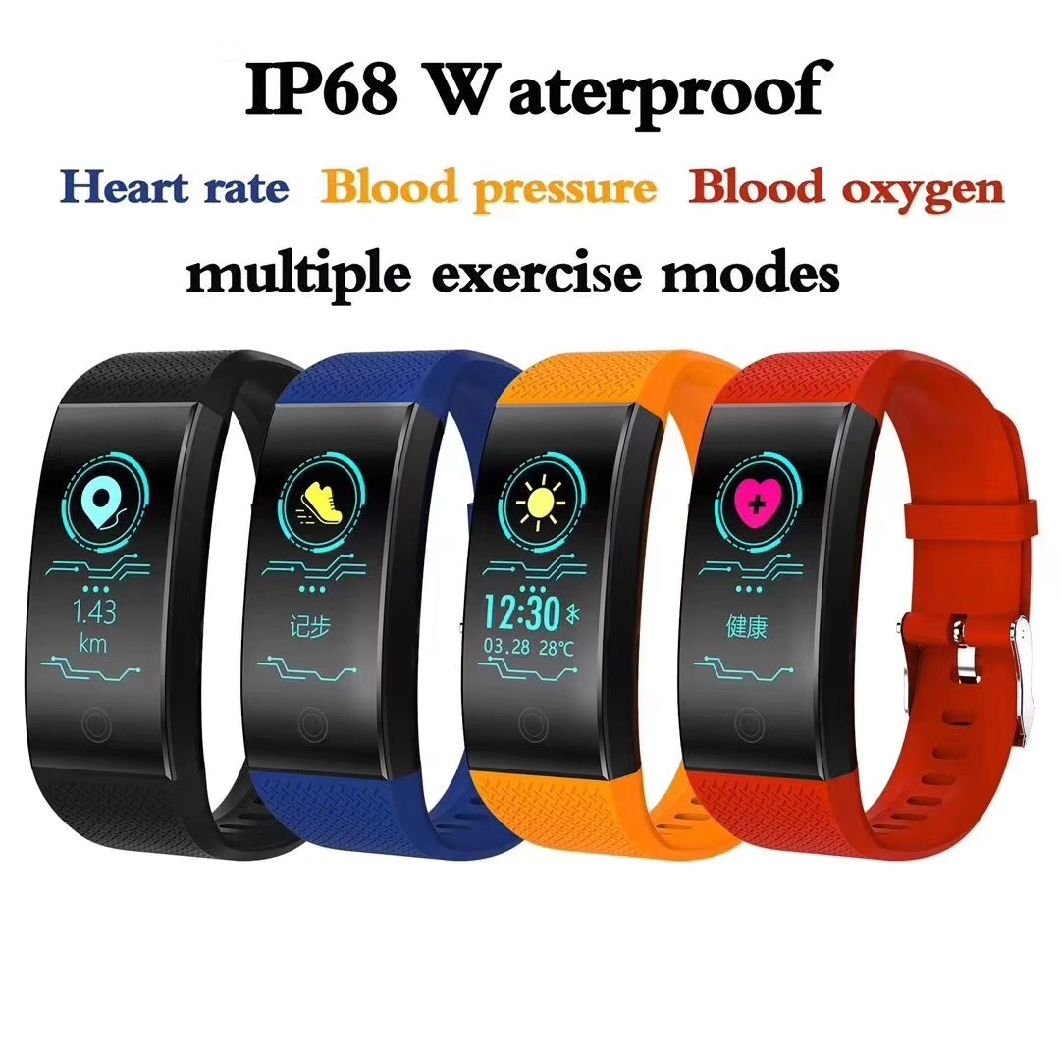 Qw18 Smartwatch 2018 Fitness Bracelet Blood Pressure Heart Rate Monitor Wristband Pedometer Swim Tracker Smart Watch IP68