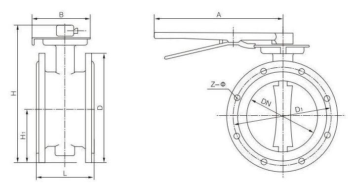 Manual Flanged End Soft Seal Butterfly Valve (GAD41X)