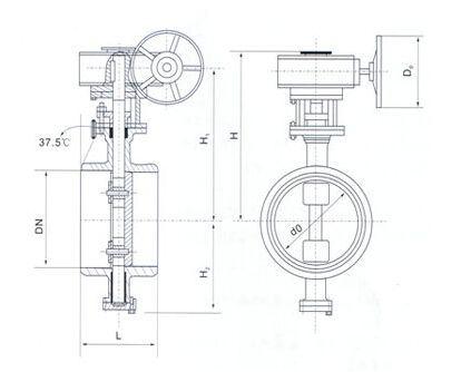 Worm Gear Box Butt Welded End Metal Sealing Butterfly Valve (GA363H/F)