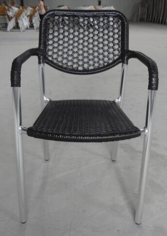 Scratch Resistant Outdoor French Bistro Garden Restaurant Furniture Rattan Chairs Chair (RC-06030)