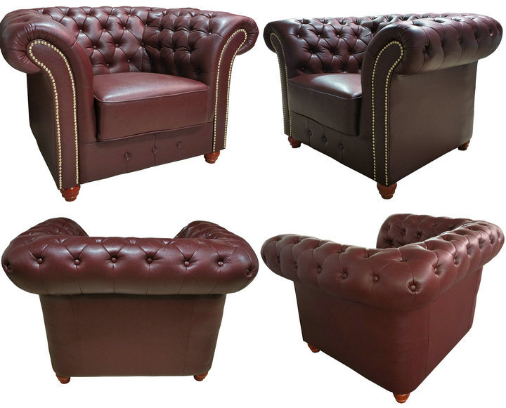 Hot Sell Chesterfield Office Furniture PU Leather Sofa (6806)