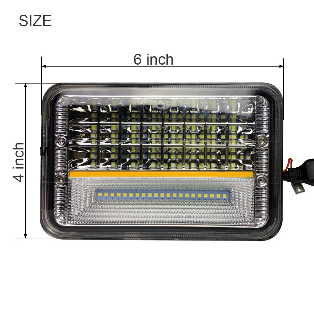 Factory Amber Angel Eye DRL 45W Combo Beam 4 Inch Square LED Work Light for ATV