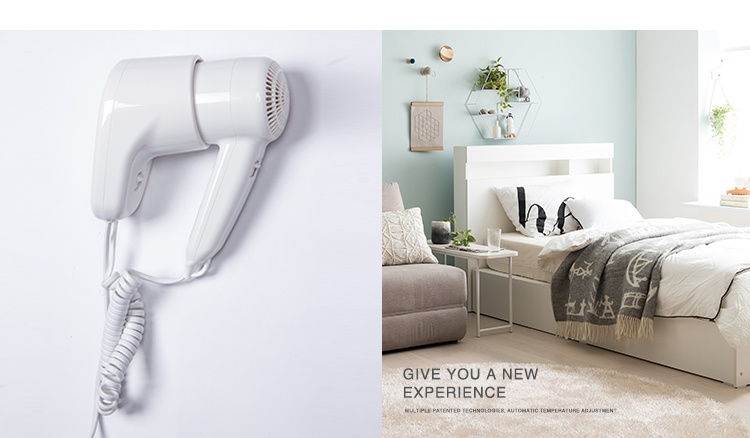 Professional Hotel Wall Hair Dryer with 2-Speed