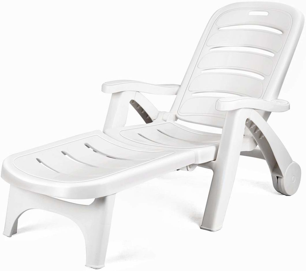 Sensational China 5 Position Backrest Adjustable Plastic Outdoor Patio Chaise Lounge Chair With Wheels Armrest Andrewgaddart Wooden Chair Designs For Living Room Andrewgaddartcom