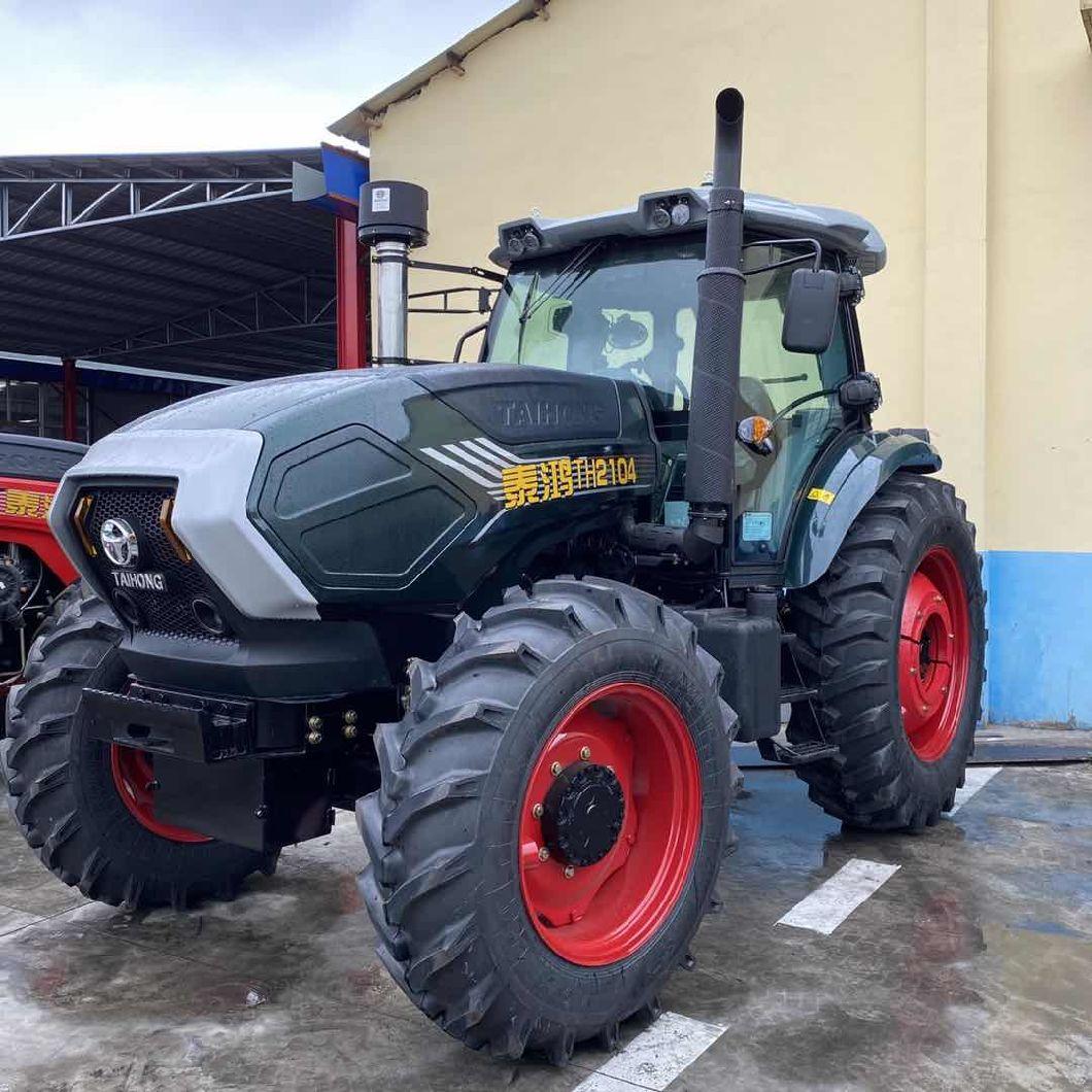 4×4 Wheeled Type Diesel Farm Tractors , 55hp Farm Mini