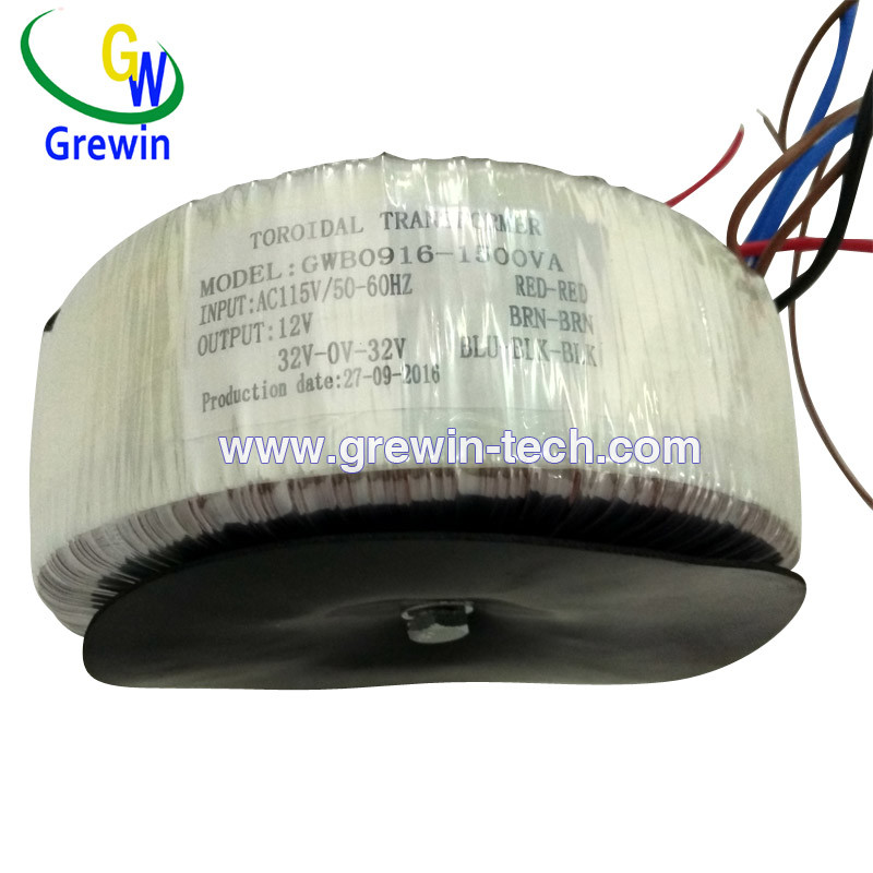 Three Phase Power Toroidal Transformer for Machine