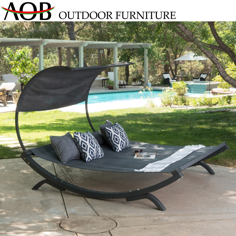 China Contemporary Patio Beach Chair Hotel Pool Outdoor Garden Furniture Aluminum Lounger Daybed Sun