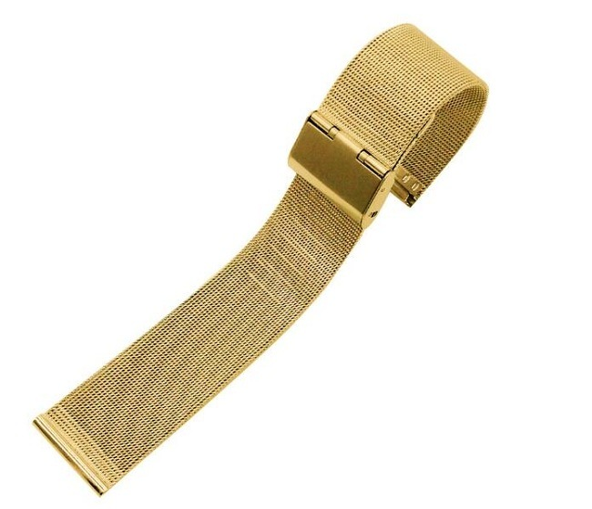 New Lug Width 12 14 16 18 20 22 24mm Rose Gold Stainless Steel Milanese Mesh Watch Band Bracelet Strap 0.4 Wire Mesh