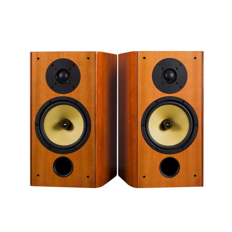 "classical hi fi stereo bookshelf speaker with 1""silk dome"