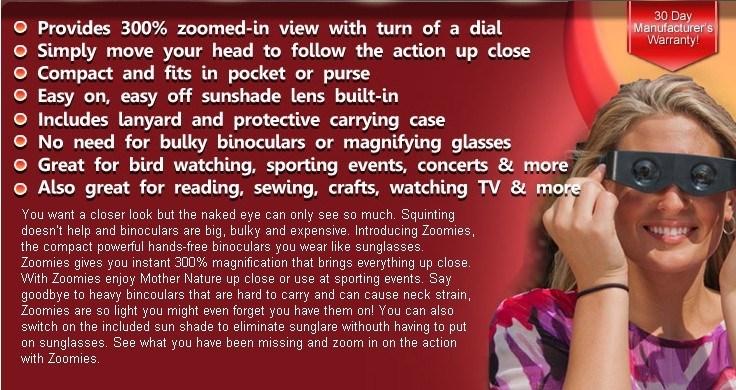 China Zoomies Hand Free Binoculars China Zoomies Hand Free Binoculars Telescope