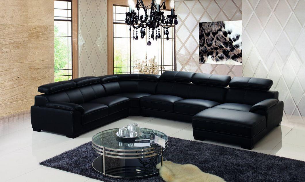 China Pure Leather Living Room Sofa Set