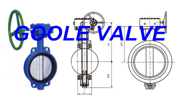 Manual Soft Seal Wafer Type Butterfly Valve (GAD371X)