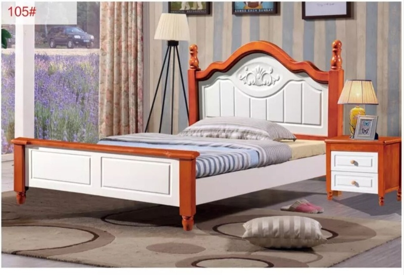 China Solid Wood Bed Frame Queen Size Bed For Home Bedroom Bed