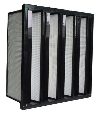 H13 V-Bank HEPA Air Filter with Plastic Frame