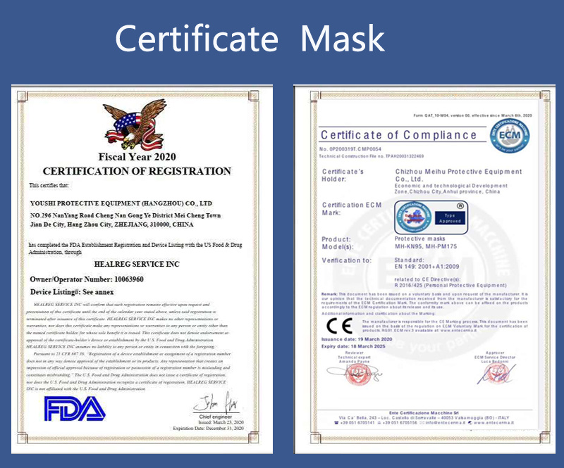 Disposable Mask Ce Certificate 3 Ply Surgical Safety Face N95 Mask