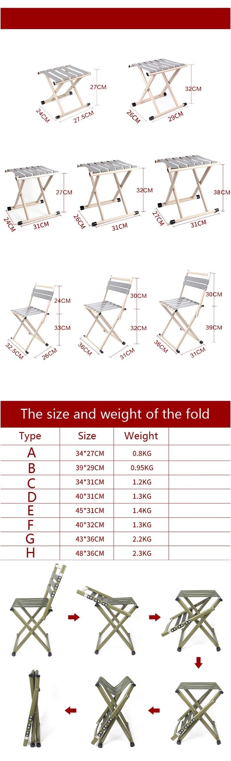 Wholesale Portable Small Folding Chair Hevey Duty Stool