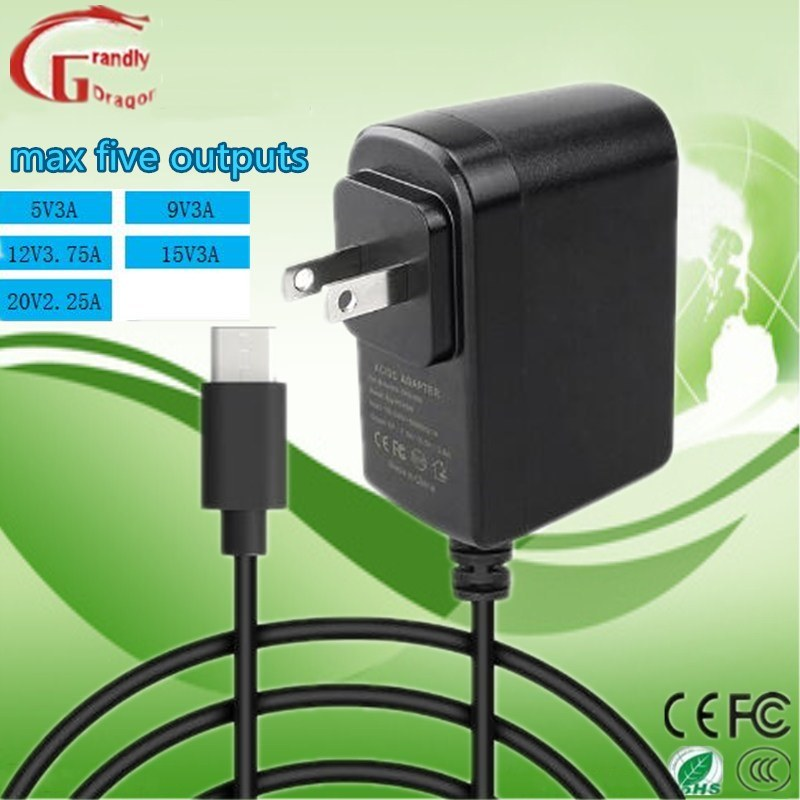 Multiple Five Output Inteligent Wall-Mount Transformer for Most Type-C Machines