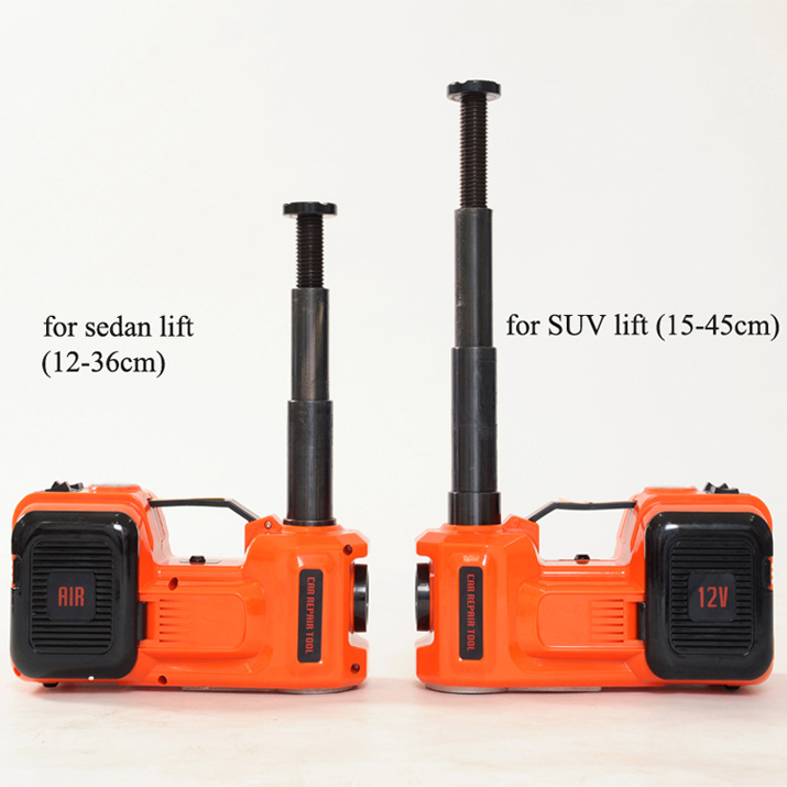 Two Functions Electric Floor Hydraulic Jack with Air Compressor