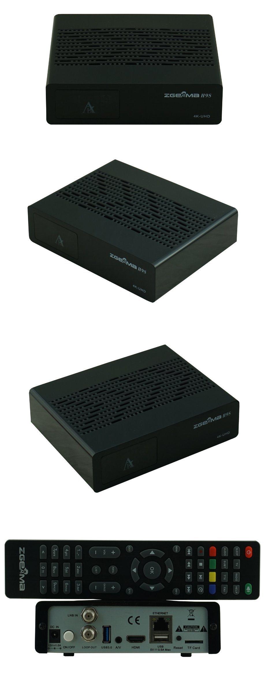 Zgemma H9s 4K UHD TV Box Linux OS E2 DVB-S2X Satellite Tuner Support Qt Stalker IPTV Play