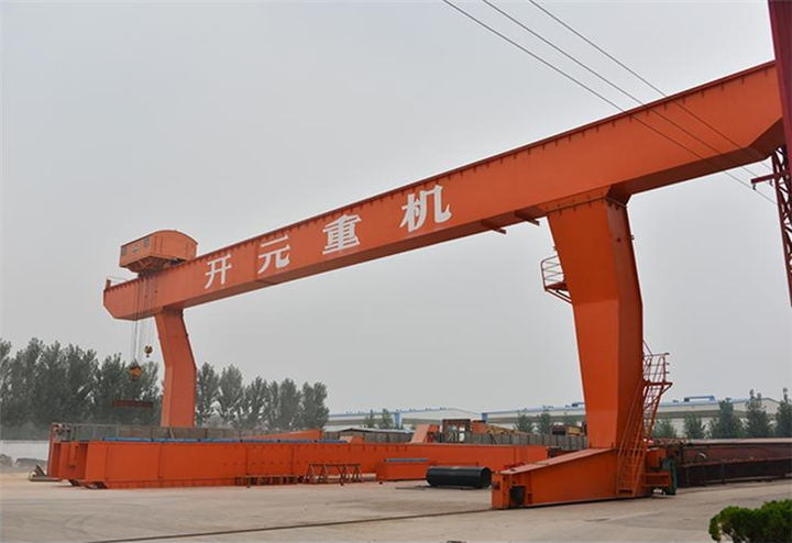 Electric Hoist Single Girder Gantry Crane with Electromagnetic Beam