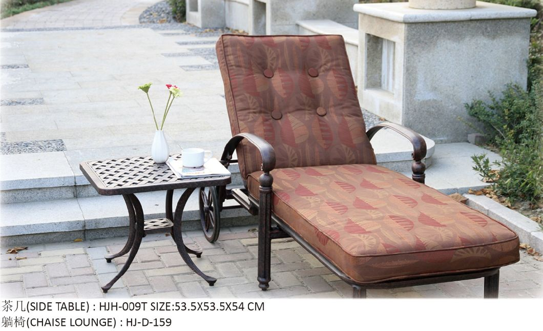 Cast Aluminum Garden Chaise Lounge Outdoor Chaise Lounge Patio Furniture