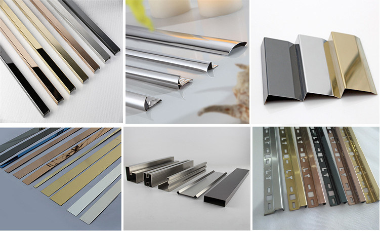 China Stainless Steel Trim Profile Decorative Strips