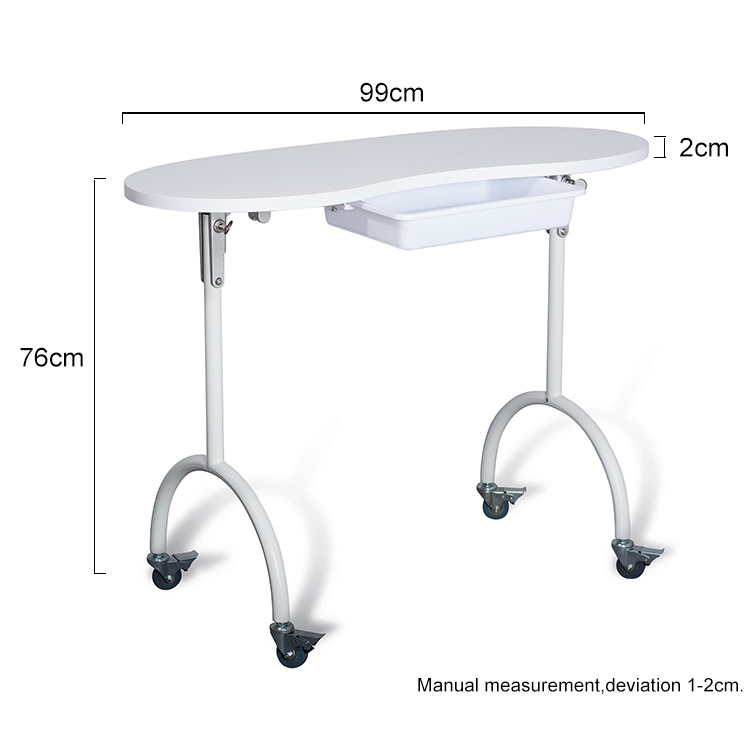 China Salon Portable Nail Manicure Table Fan Nail Table From