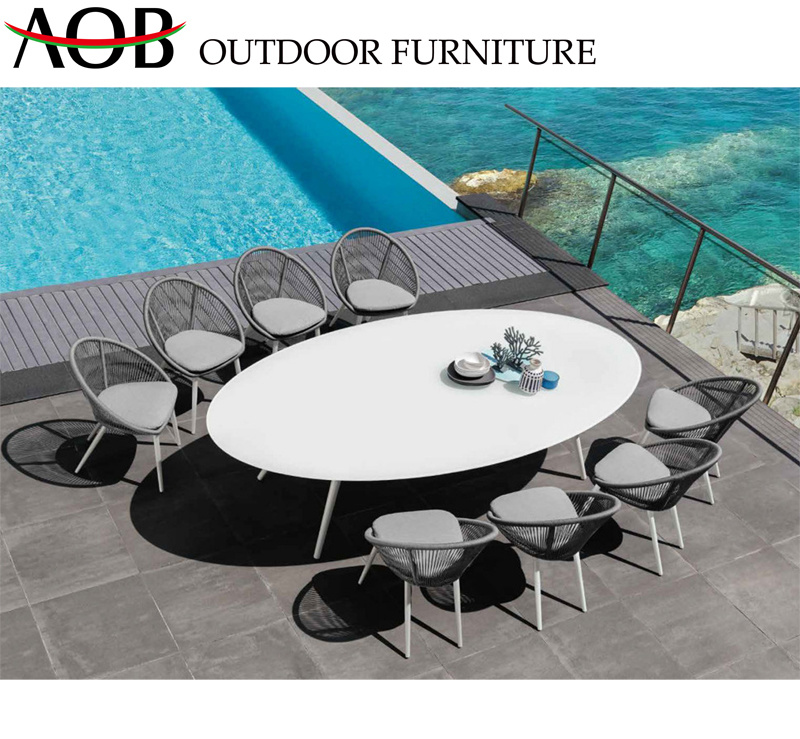 Chinese Modern Leisure Rope Dining Chair Set for Restaurant Hotel