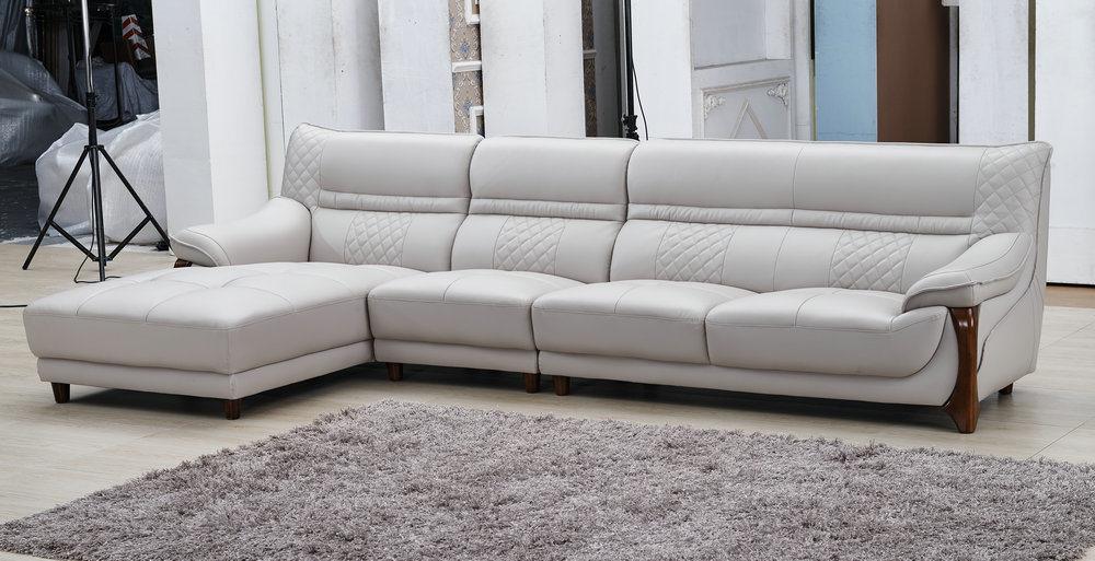 modern Leisure Living Room Green Sectional Fabric Sofa