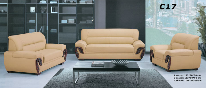 Best Quality Hotel Lobby Furniture Sectional Leather Sofa (C17)