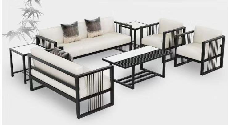 Metal Frame Office Furniture Sofa Set