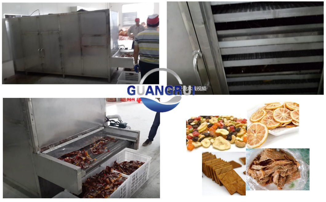 Industrial Automatic Hot Wind Food Drying Machine for Food Processing Factory